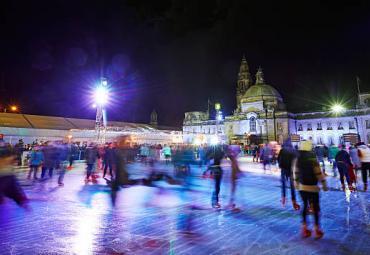 Huge Ice Skating Rink